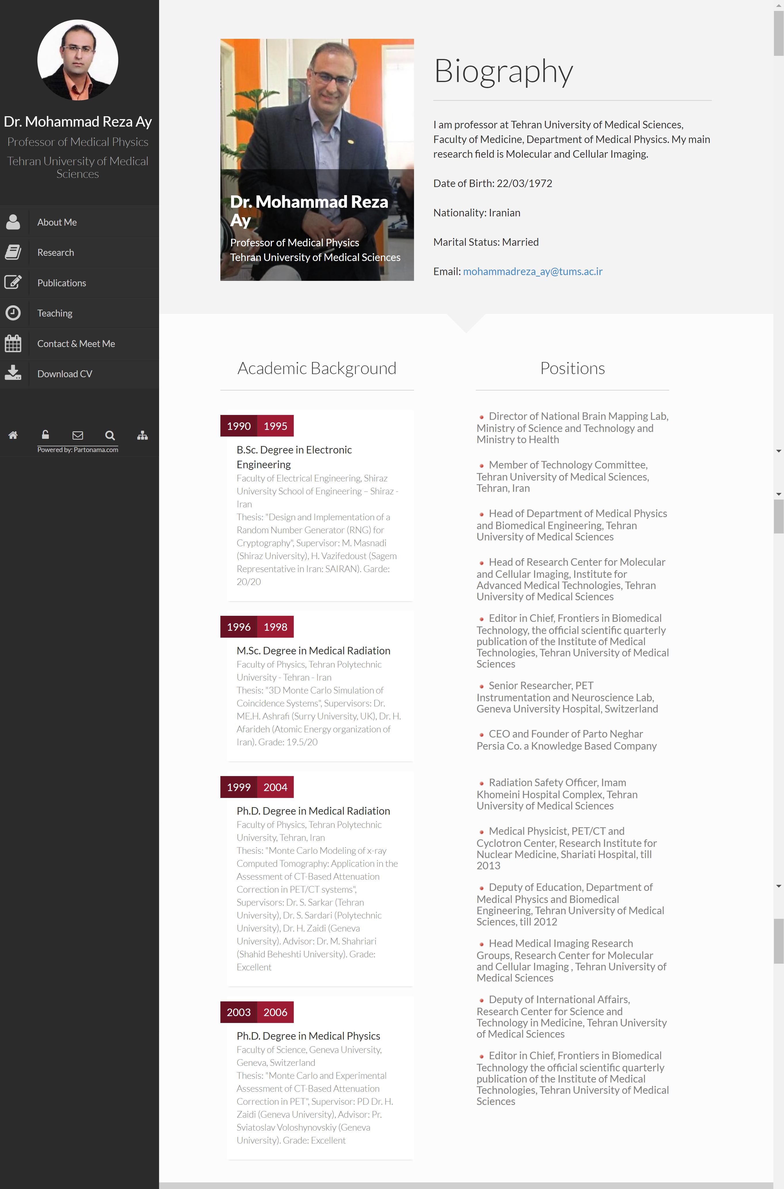 Protonama: CV, Research and Commercial Web Portal Builder
